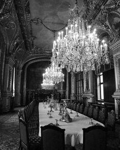 Chandeliers of Napoleons Apartment, Paris France Louvre
