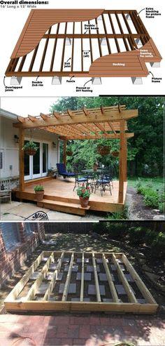 Great Deck Ideas & Designs Diy Crafts For Gifts, Diy Home Crafts, Decor Crafts, Cool Deck, Diy Deck, Simple Diy, Easy Diy, Diy Decoration, Decor Ideas
