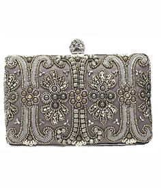 Relive the Roaring 1920s with this Moyna: Silk Box Bag! The perfect partner for almost any dress! http://www.bellableubridal.com/bridal/bridal-handbags/moyna-silk-box-bag