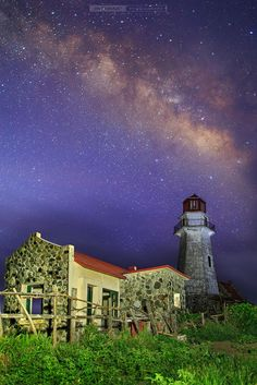 """500px / Photo """"Under the Milky Way"""" by JM Donaire~Mahatao Lighthouse in Batanes,Philippines"""