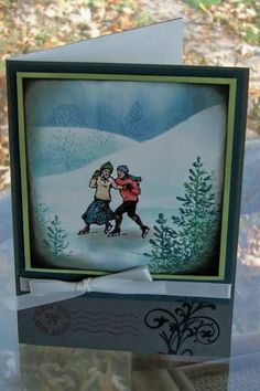 Ice Skaters cc192 wt192 by Vanilla.Bean - Cards and Paper Crafts at Splitcoaststampers