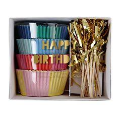 Happy Birthday Cupcake Kit : Meri Meri Party Supplies : The Party Cupboard Online Store Australia