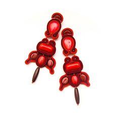 Big unique red earrings in Black Friday by MANUfakturamaanuela, $62.00