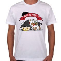 "Tee shirt blanc ""viva feria"" teddy"