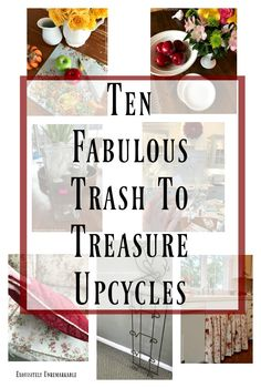 Ten Fabulous Trash To Treasure Upcycles Check out these thrift store and DIY makeovers and gather inspiration for your next DIY or craft project. Upcycled Crafts, Repurposed, Diy Furniture Projects, Craft Projects, Decor Crafts, Diy Crafts, Thrift Store Crafts, Thrift Stores, Trash To Treasure