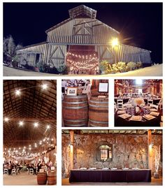 I think this might actually be our venue!  I like the glowing lighting in the barn