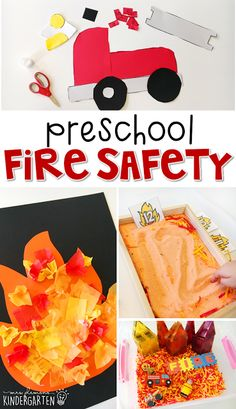 Tons of fire safety themed activities and ideas. Fire Safety Crafts, Fire Safety Week, Preschool Fire Safety, Preschool Ideas, Preschool Crafts, Fireman Crafts, Firefighter Crafts, Fire Truck Craft, Community Helpers Activities