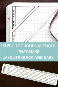 you want a faster way to make your bullet journal layouts? Here are 10 tools you can use to make bullet journaling quicker so you can focus on your things to do. Bullet Journal Tools, March Bullet Journal, Bullet Journal Stencils, Bullet Journal Printables, Bullet Journal Spread, Bullet Journal Layout, Bullet Journal Inspiration, Bullet Journals, Journal Ideas