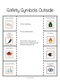 Printables Science Safety Symbols Worksheet science lab safety and labs on pinterest symbols foldable freebie 1343079 teaching resources teacherspayteachers