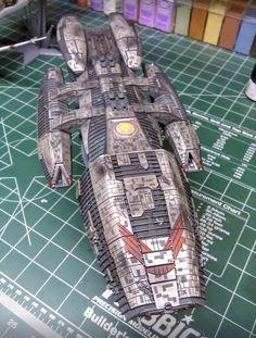 Starburst Models build up of the Moebius Battlestar Galactica Model. Battlestar Galactica Model, Grand Admiral Thrawn, Sci Fi Models, Space Marine, Model Kits, Model Building, Plastic Models, Scale Models, Star Trek