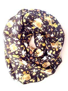 Yellow Rose Infinity Scarf  Floral Print 1 to 2 by TwistedScarfs, $24.79 twistedscarfs.etsy.com