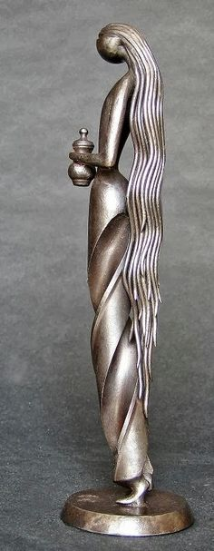 """""""Marie Madeleine"""" by sculptor Jean-Pierre Augier - Born in 1941 in Nice, Augier lives & works in Saint-Antoine-de-Siga, France. In 1963, he became interested in disused old tools & learned how to weld & shape the iron into works of art. His favorite themes are woman, couples, motherhood, fables, mythology & religion. His works are recognized as having """"four cardinal virtues"""": grace, movement, tenderness & humour / http://www.jean-pierre-augier.com/"""