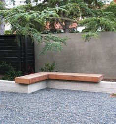 debora carl landscape design contemporary landscape- help the wood and concrete blend Modern Landscape Design, Garden Landscape Design, Landscape Plans, Modern Landscaping, Front Yard Landscaping, Landscaping Tips, Garden Seating, Garden Bench Seat, Outdoor Seating