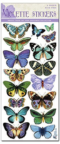 Lavender Butterfly Stickers for sheets - City of animals Blue Butterfly, Vintage Butterfly, Beautiful Butterflies, Coloring Books, Printables, Stickers, Embroidery, Drawings, Illustration