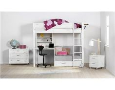 puppenhaus kinderzimmer etagenbett hochbett schrankbett puppenhausm bel miniatur 1 12 f r ein. Black Bedroom Furniture Sets. Home Design Ideas