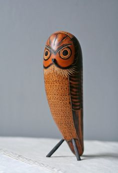 Owl made from gourd