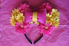 Minnie Mouse Flower Ears by CrazyBeautifulCreati on Etsy, $25.00