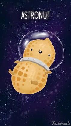 Funny Pun: Astronut - Astronaut Peanut
