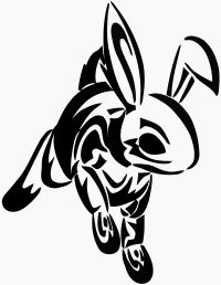 The Tribal Rabbit Tattoo Stencil: Real Photo Pictures Images and . Bunny Tattoos, Rabbit Tattoos, Tribal Drawings, Tribal Art, Old Tattoos, Tribal Tattoos, Hase Tattoos, Tattoo Addiction, Norse Symbols