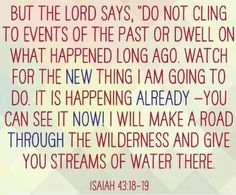God is making a new thing. Let go of the old. TonyEvans.org