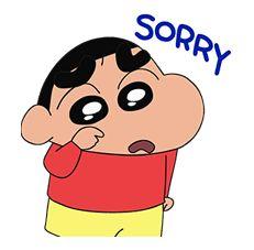 Share Ur sorry with this sticker😛 Sinchan Wallpaper, Cartoon Wallpaper Iphone, Cute Disney Wallpaper, Cute Cartoon Wallpapers, Sinchan Cartoon, Cartoon Stickers, Cartoon Characters, Fictional Characters, Pikachu Art