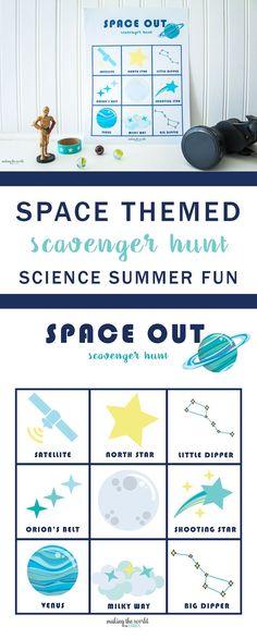 Diy Crafts  :   Illustration   Description   Space Themed Scavenger Hunt Printable Game     Crafting is just…Fun!     -Read More –   - #DIYCrafts