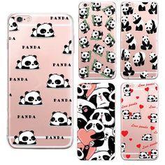 2016 Nuova Cina cute panda Per apple iPhone 6 S custodia in silicone animazione Per iPhone 6 Più SE 5 5 s casi soft cover Coque