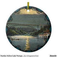 Panther Hollow Lake Vintage Ornament