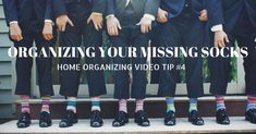 How many single socks are floating around your bedroom or even your closet floor? Here is a sure-fire way to corral them together and stop wasting time trying to find them! #decluttering, #socks, #organizing, #laundry