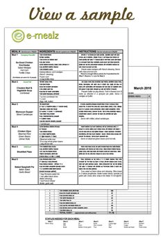 A great way to plan our gluten free meals.