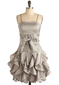 Who Wants to Be a Frillionaire Dress in Platinum