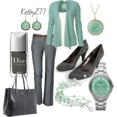 Mint Green and Gray