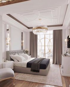 Decorative and Small Bedroom Design Ideas for This Year Part bedroom ideas; bedroom ideas for small room; Luxury Bedroom Design, Interior Design, Elegant Bedroom Design, Small Master Bedroom, Small Bedroom Designs, Suites, Home Decor Bedroom, Bedroom Ideas, Apartment Interior