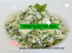 Green Apple Coleslaw | Stay at Home Mum #salads #coleslaw