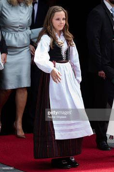 Princess Ingrid Alexandra of Norway attends a celebratory church service in the Nidaros Cathedral during the Royal Silver Jubilee Tour on June 23, 2016 in Trondheim, Norway.