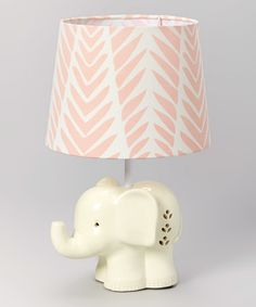 Another great find on #zulily! Surina Elephant Lamp Base & Pink Palm Shade #zulilyfinds