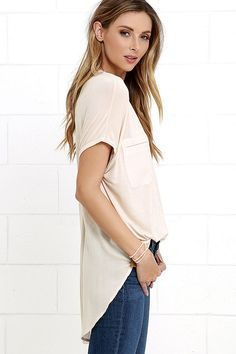 Gentle Fawn Bell Beige Top at Lulus.com!