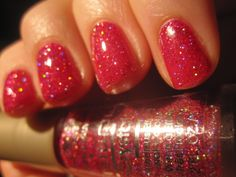 L'Oreal B. Daring BN -- VHTF, the red is a deeper, truer red than any pics I could find. A jelly with micro holographic glitter. (my back up)