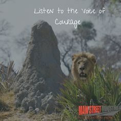 How to Listen to the voice of Courage