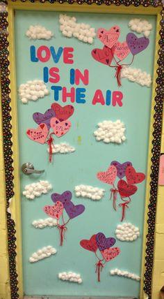 Mrs Nichols Valentine's Day classroom door