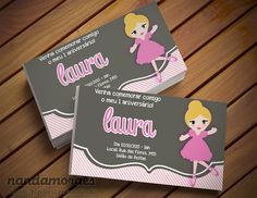 Convite Bailarina para festa infantil