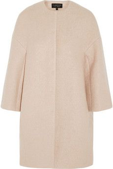 Giambattista Valli Felted cocoon coat | NET-A-PORTER, 60's style dress coat