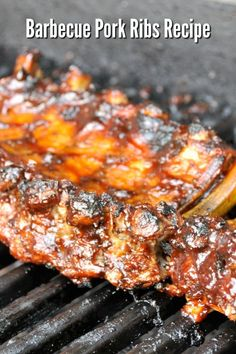 This is the easiest and best Barbecue Pork Ribs Recipe! Tender fall of the bone bbq ribs smothered in a sweet sauce. This recipe is easy and delicious! Best Grill Recipes, Roast Beef Recipes, Pulled Pork Recipes, Fun Easy Recipes, Barbecue Recipes, Grilling Recipes, Easy Meals, Dinner Recipes