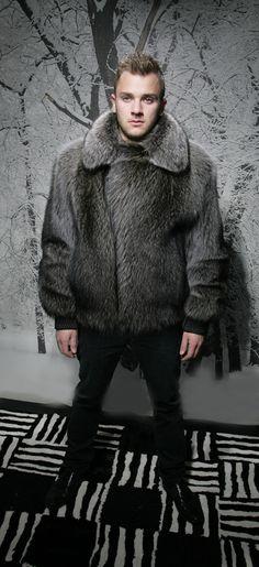 CR106 homme réel fourrure de renard manteau 2018 nouveau