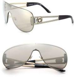 4d7d760370f45 Versace 41MM Pilot Mirrored Metal Sunglasses