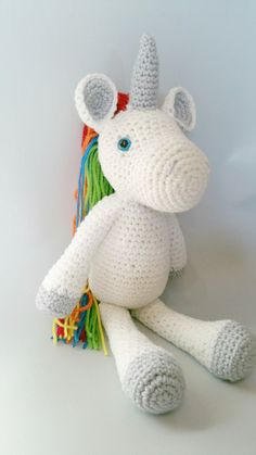 Unicorn Crochet Pattern by RedFoxStitches on Etsy