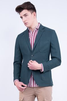 Slim Fit Blazer In Virgin Wool