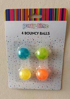 4 Bouncy Balls Birthday Party Bag Fillers Favours Toy Kids Gift Play Christmas #AllForYou
