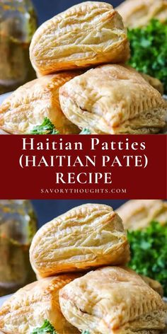 Haitian Patties (Haitian Pate) – Spicy, flavorful, delectable beef stuffed in puff pastry dough. Quick and easy Haitian Pate that comes together as quickly as they sail off the table. Ridiculously Delicious!!! #patties #haitianpatties #snack #haitianrecipe #appetizer #easyrecipes #savorythoughts @Msavorythoughts   savorythoughts.com Pate Recipes, Dishes Recipes, Fun Recipes, Meal Recipes, Appetizer Recipes, Appetizers, Healthy Recipes, Haitian Pate Recipe, Haitian Food Recipes