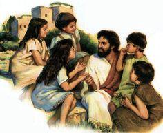 Jesus and children.